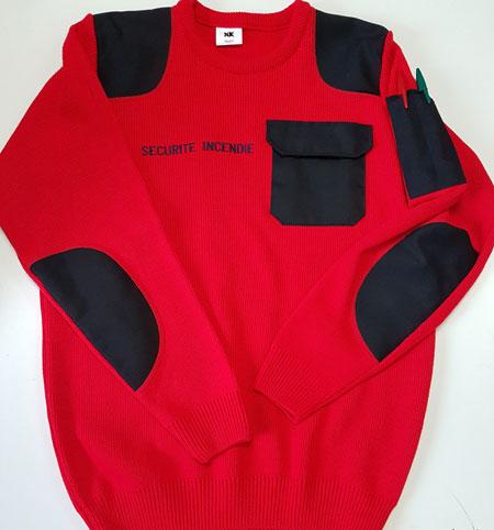 pull rouge sécurité incendie PpH03
