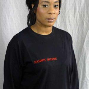 t-shirt noir manches longues ssiap TSHHml02