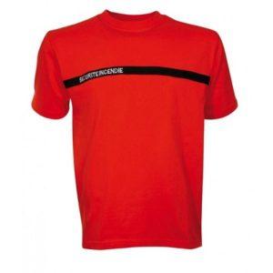 Teeshirt manches courtes securite incendie TSAmc03