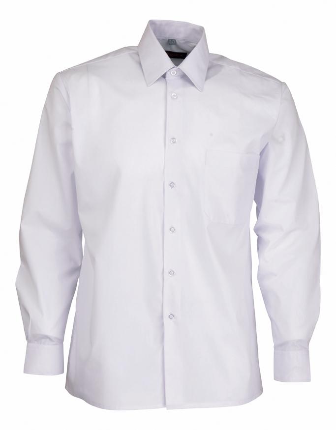 Chemise agent de sécurité de couleur blanc et bleue