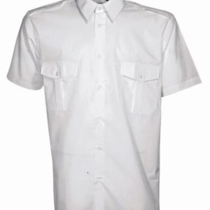 chemise blanche manches courte
