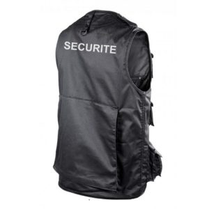 gilet multipoches noir securite GMH02